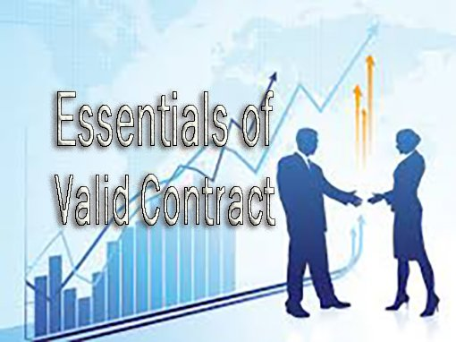 Essentials Of Valid Contract  Studybix
