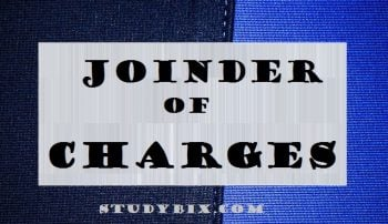 Joinder of Charges , joinder of charge under crpc,joinder of