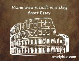 rome was not built in a day examples